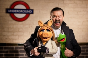 Ricky Gervais in The Muppets.. Again!