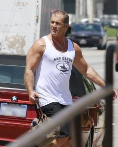 Mel Gibson on set of EX3