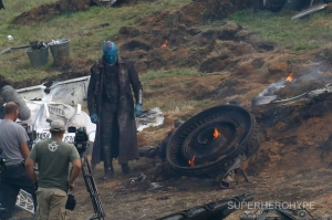 Rooker on Guardians of the Galaxy set