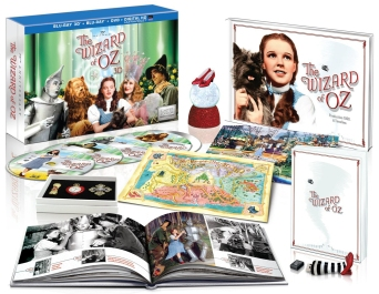 Wizard of Oz 3D Box set blu art