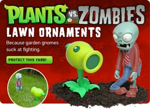 Plants vs Zombies lawn ornaments zombie and plant
