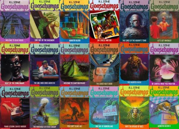 Goosebumps book covers