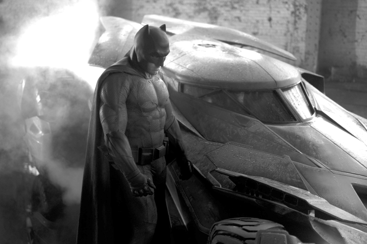 Batman suit and car lightened up