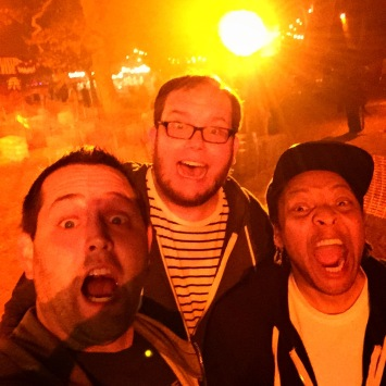MPPodcast crew at haunted hayride