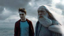 "DO NOT USE PRIOR TO PUBLICATION. SUNDAY CALENDAR  COVER STORY FOR JULY 5, 2009. (L-r) MICHAEL GAMBON as Albus Dumbledore and DANIEL RADCLIFFE as Harry  Potter  in Warner Bros. Pictures' fantasy adventure movie ""Harry  Potter  and the Half -Blood  Prince ."